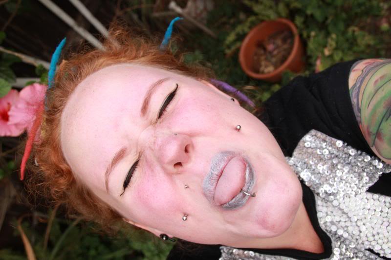 kobi jae horror kitsch bitch fat fatty girl tattooed plus-size bbw zombie scooter club inked dimples dreads ootd blog blogger aussie australian ootd chubby dreadlocks melbourne coloured colored rainbow