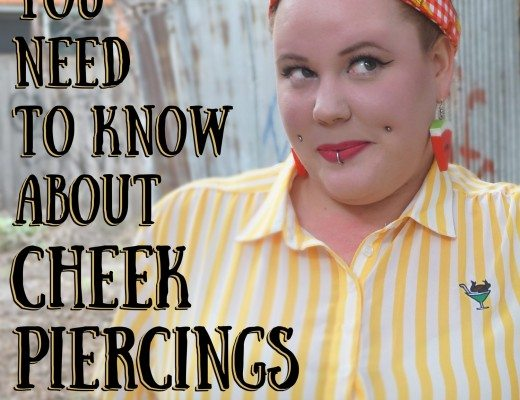 Kobi Jae of Horror Kitsch Bitch - 10 Things You Need to Know About Cheek Piercings - Advice about Dimple Piercings