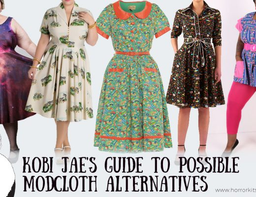Kobi Jae of Horror Kitsch Bitch's guide to Modcloth Alternatives for Plus Size Vintage and Unique Fashion