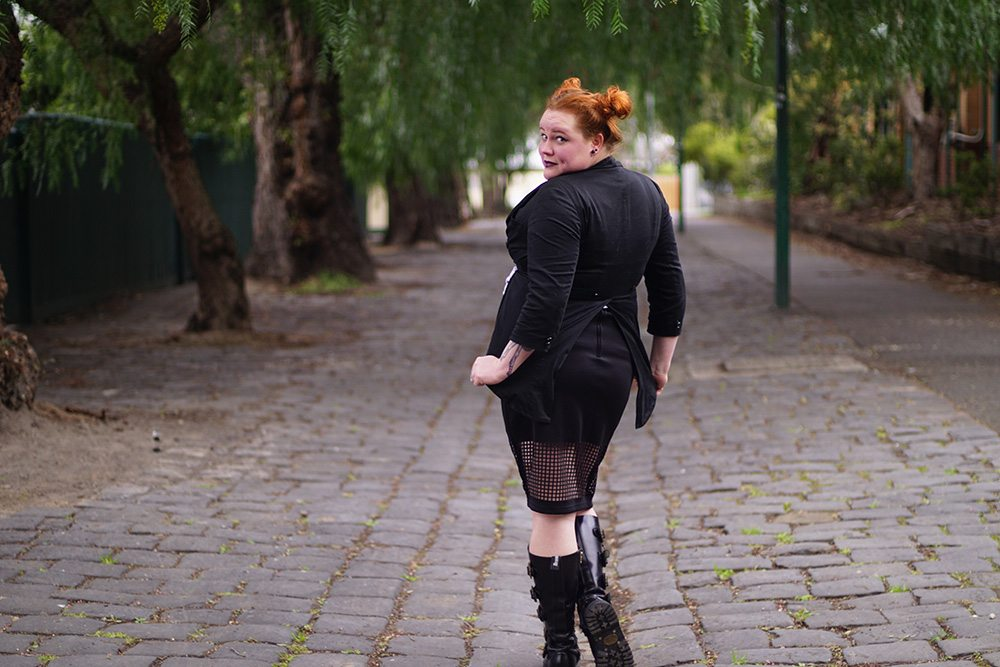 Spotlight on the Death Moth Skater Skirt by Candy Strike